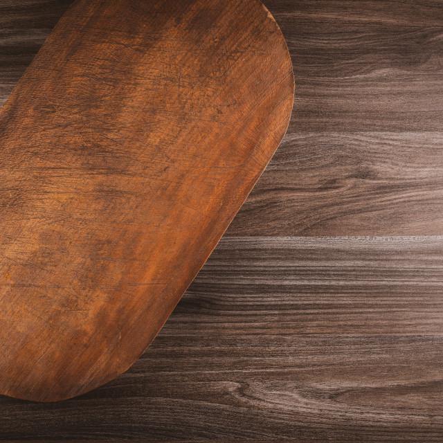 """Old cutting board"" stock image"