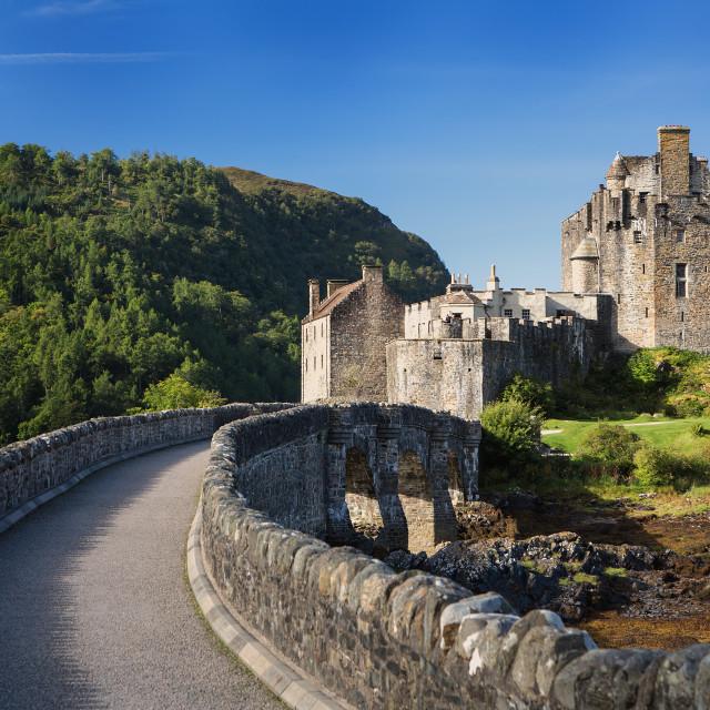 """Eilean Donan Castle Summer Scenic"" stock image"