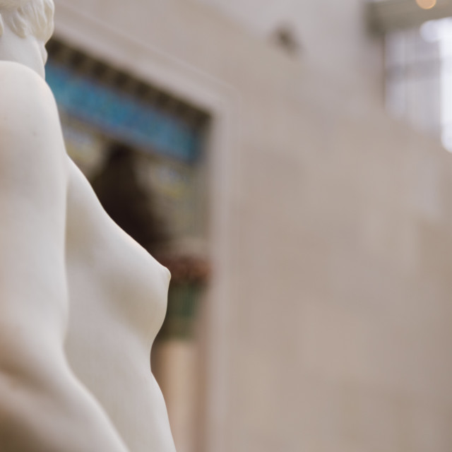 """""""Detail of sculpture at The Charles Engelhard Court in Metropolit"""" stock image"""