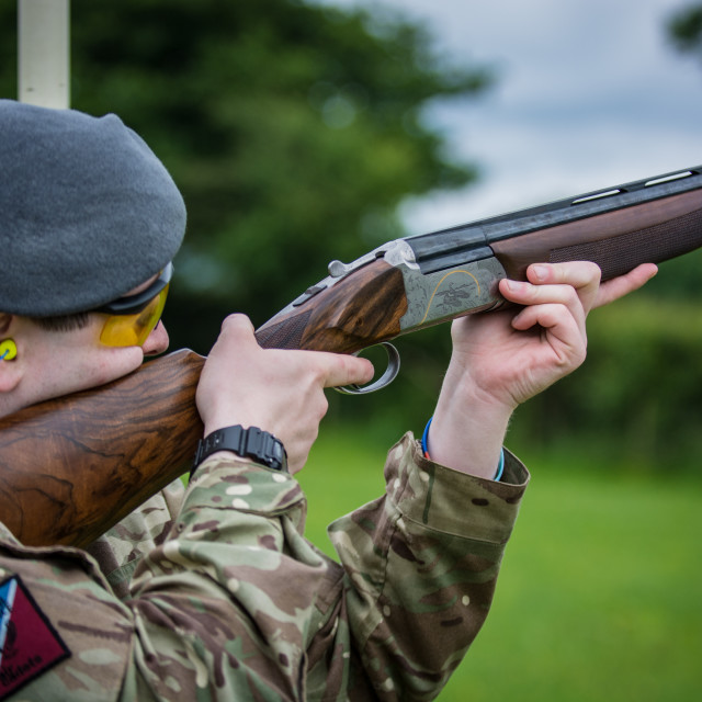"""Clay Pigeon Shoot"" stock image"