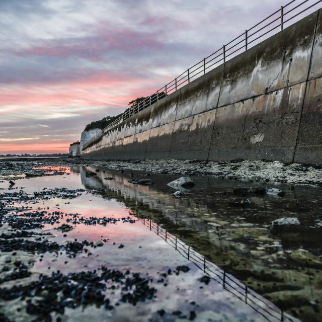 """Sunset reflections Ramsgate"" stock image"