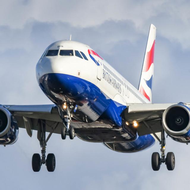 """British Airways Airbus A320 jet"" stock image"