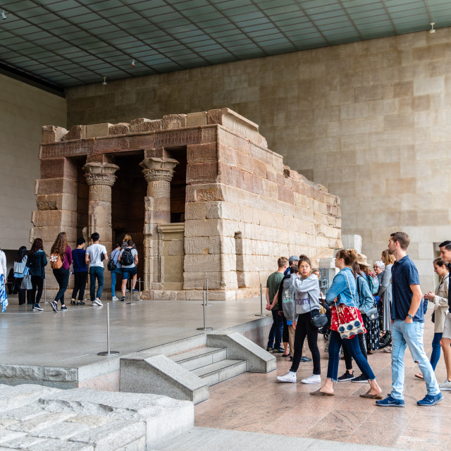"""""""Egyptian gallery in the Metropolitan Museum of Art in New York"""" stock image"""