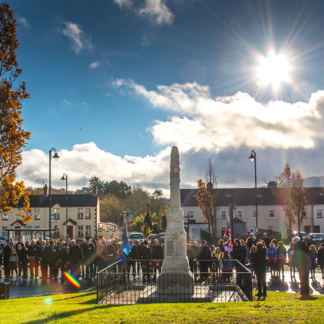 """""""The 100th anniversary of armistice day in Bessbrook"""" stock image"""