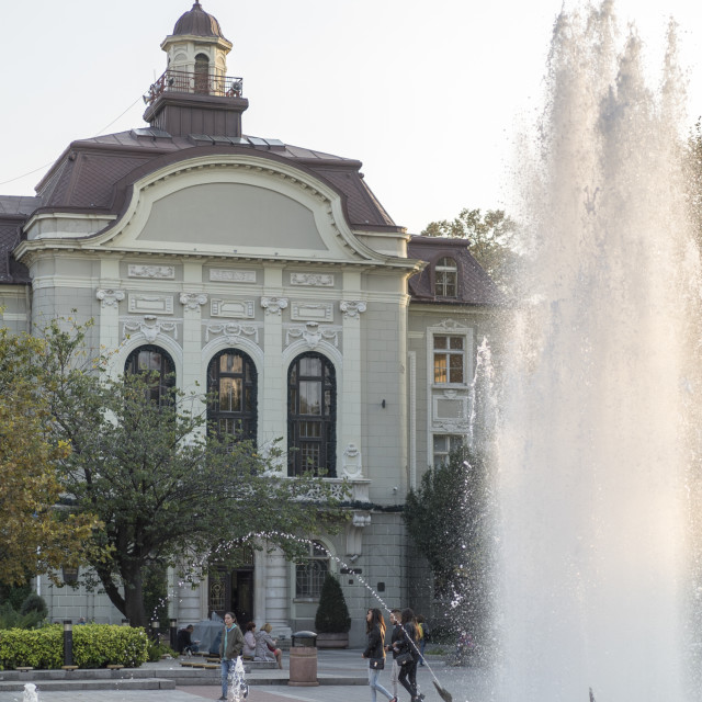 """Plovdiv Town Hall"" stock image"