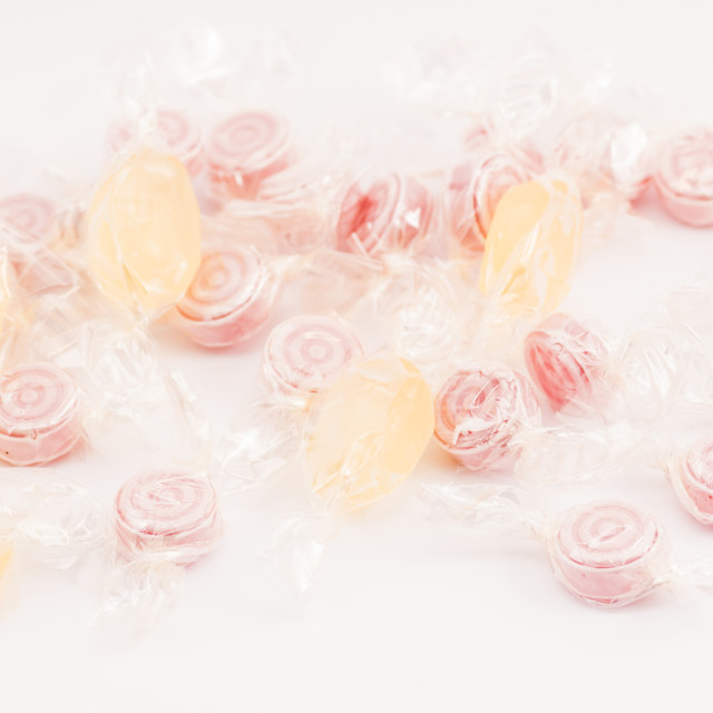 """fruit discs hard candies backdrop"" stock image"
