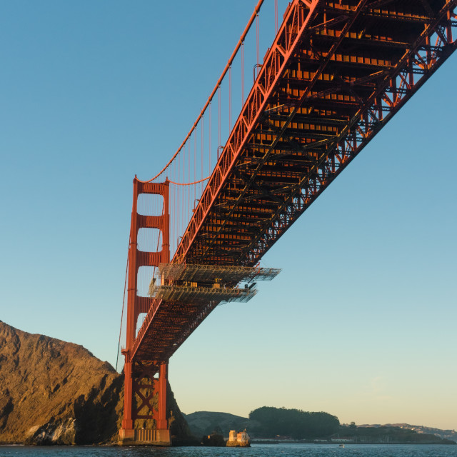 """Under the Golden Gate Bridge"" stock image"