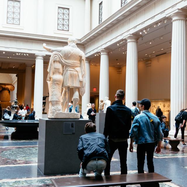 """Greek and Roman Art Halls in the Metropolitan Museum"" stock image"