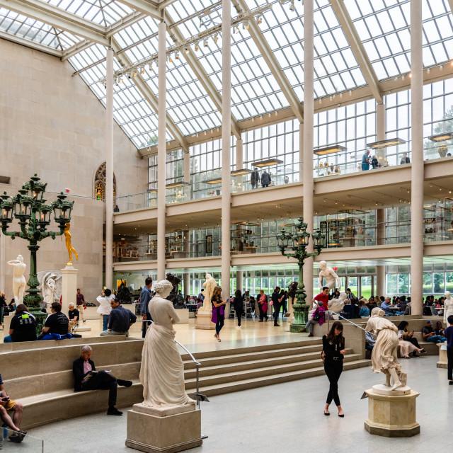 """The Charles Engelhard Court in Metropolitan Museum"" stock image"