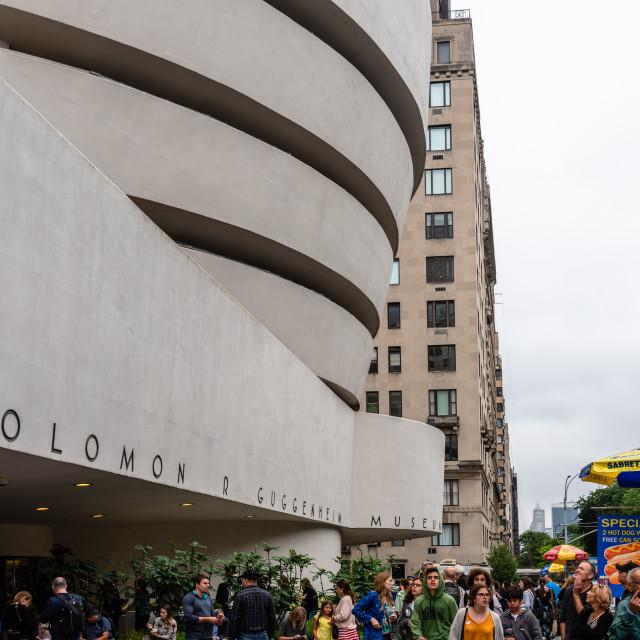 """Guggenheim Museum of modern art in New York"" stock image"