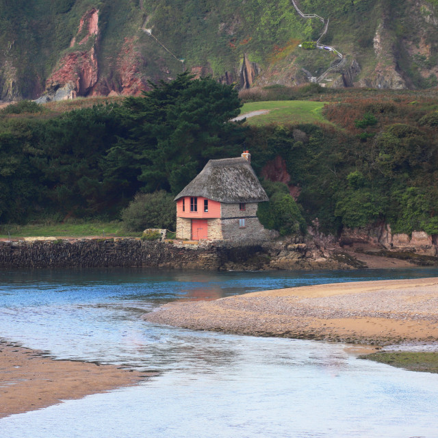 """Bantham Boathouse"" stock image"