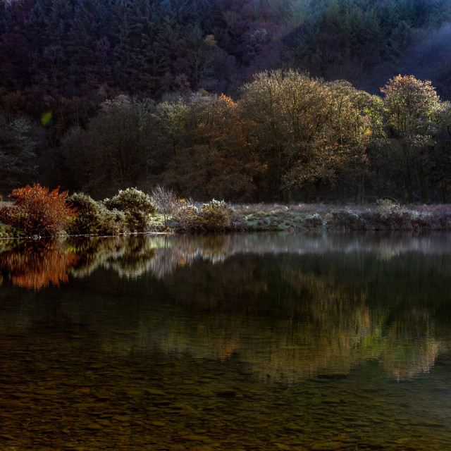 """Autumn at Glynneath lakes"" stock image"