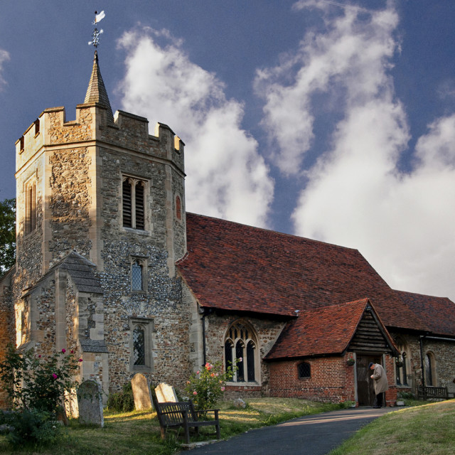 """Hockley Church"" stock image"