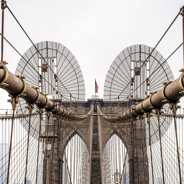 """""""A view of Brookly Bridge, New York"""" stock image"""