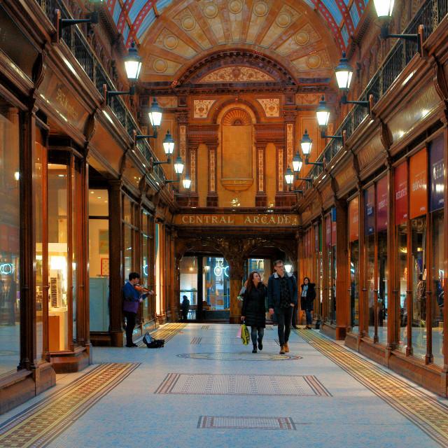 """Central Arcade Newcastle upon Tyne"" stock image"