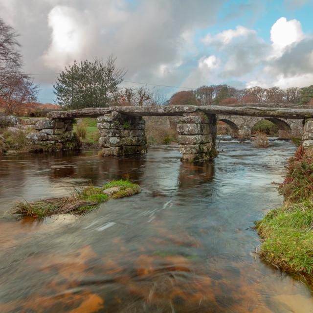 """""""Postbridge, Dartmoor national park"""" stock image"""