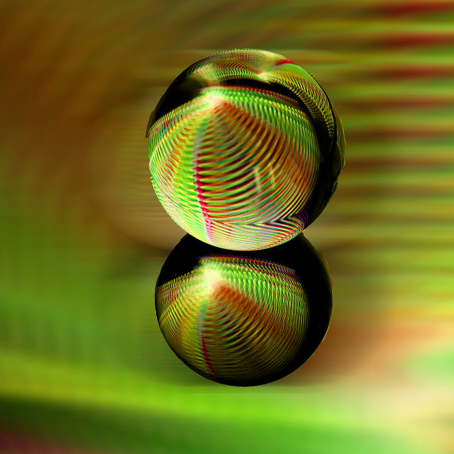 """Rolling orb in abstract."" stock image"