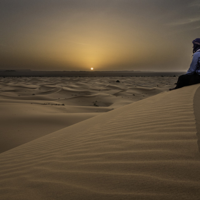 """""""Woman in a desert"""" stock image"""