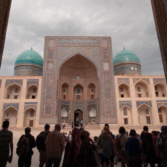 """Capturing the beauty of Miri-Arab Madrassa"" stock image"