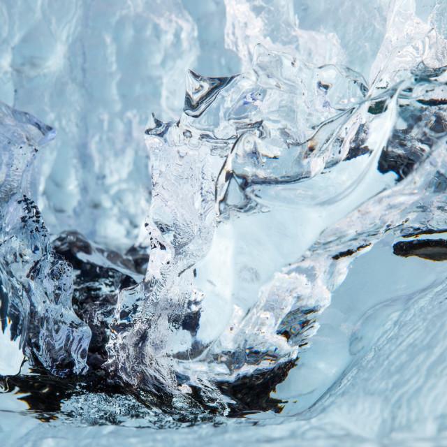 """""""Abstract - jokulsarlon - diamond beach - iceland"""" stock image"""