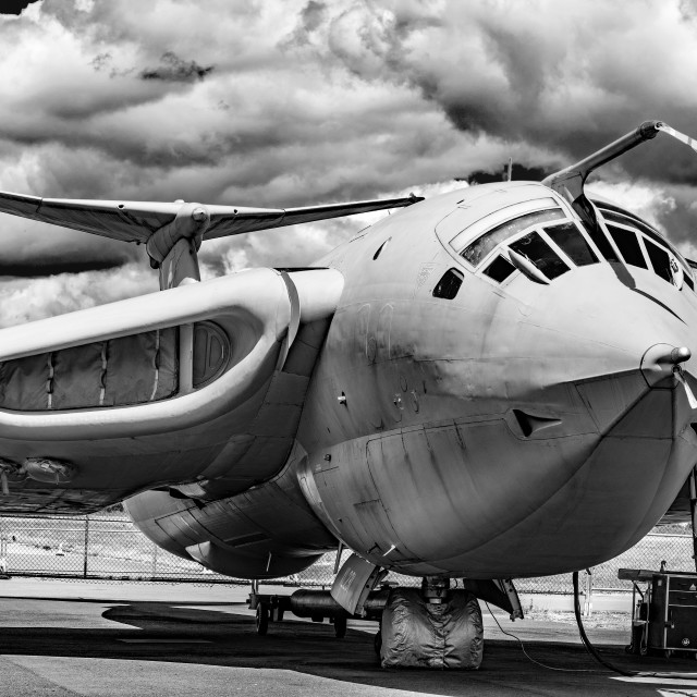 """Handley-Page Victor K2 Lusty Lindy monochrome"" stock image"