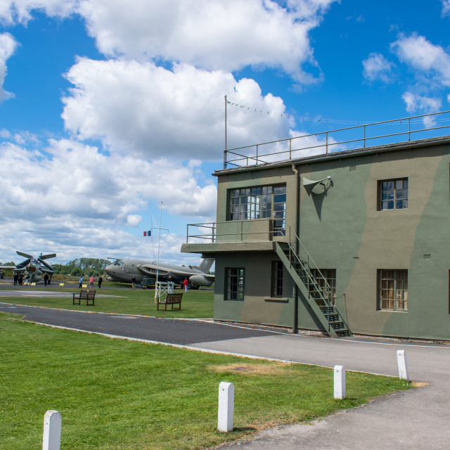 """RAF Control Tower"" stock image"