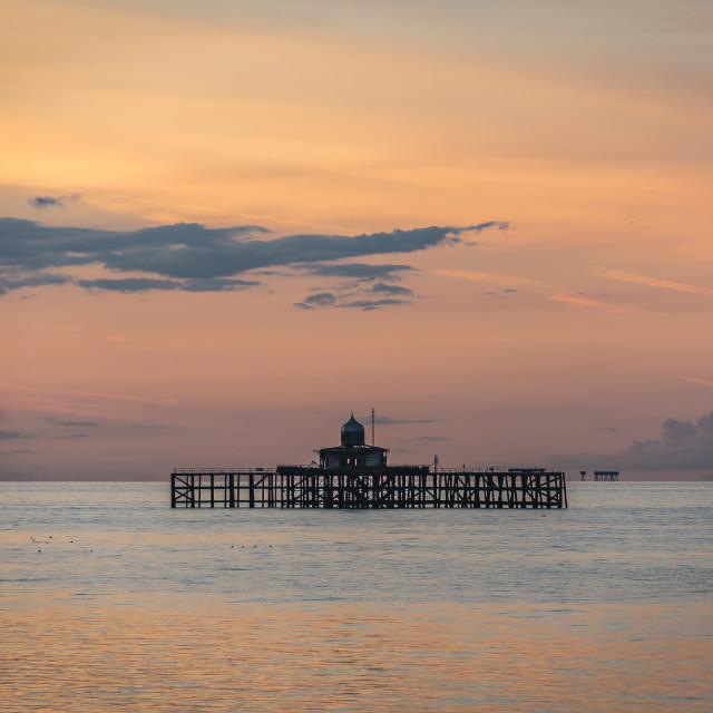 """Sunset Herne Bay Kent"" stock image"