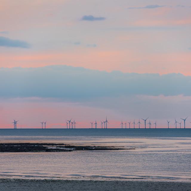 """""""Kent Coast Sunset"""" stock image"""