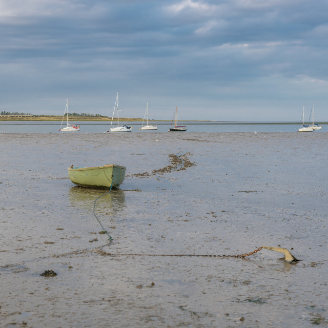 """""""Boats on The Swale River, Kent"""" stock image"""