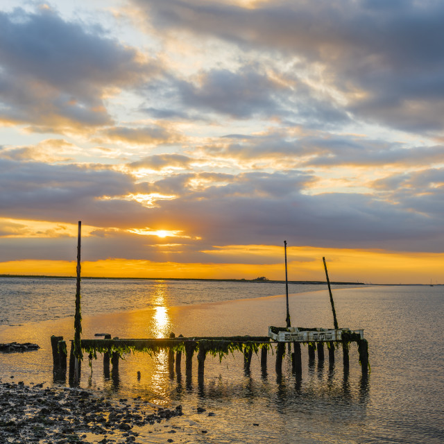 """""""Sunset on The Swale river Kent"""" stock image"""