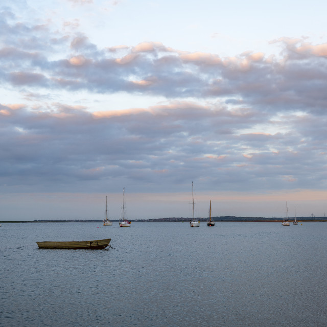 """""""Boats on The Swale Kent"""" stock image"""
