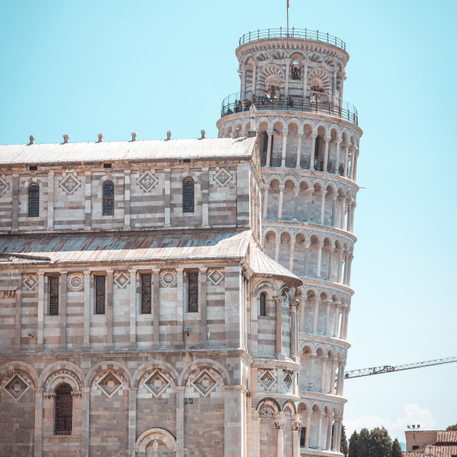 """""""Famous leaning tower in italian town Pisa"""" stock image"""