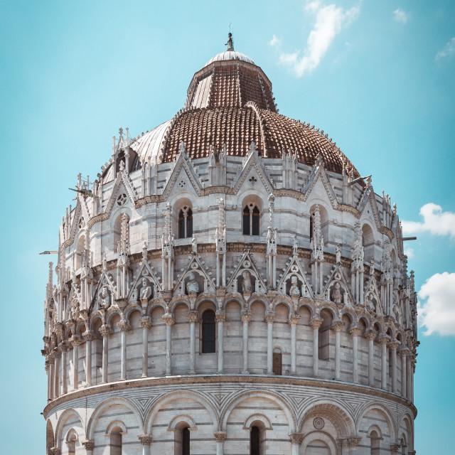 """""""Battistero di San Giovanni baptistry in Pisa"""" stock image"""