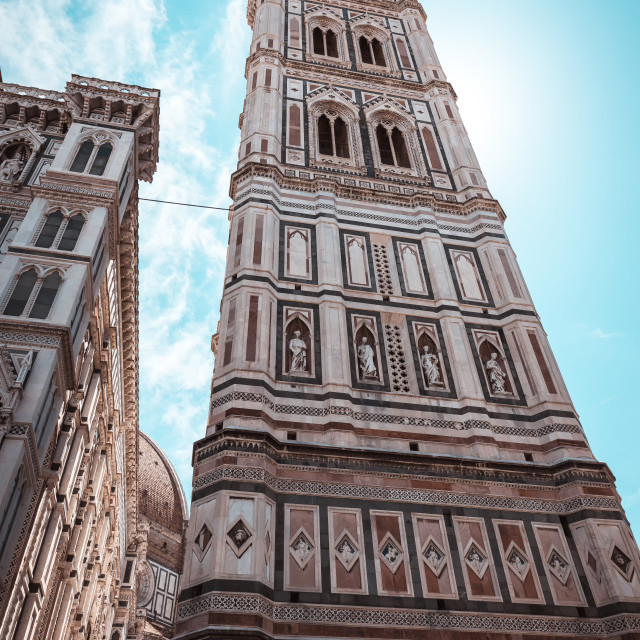 """""""Famous tower in Florence Campanile di Giotto"""" stock image"""
