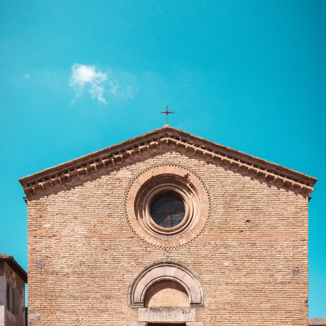 """Small churche in the town San Gimignano"" stock image"