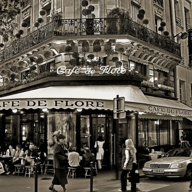 """""""Famous Cafe de Flore - Paris"""" stock image"""