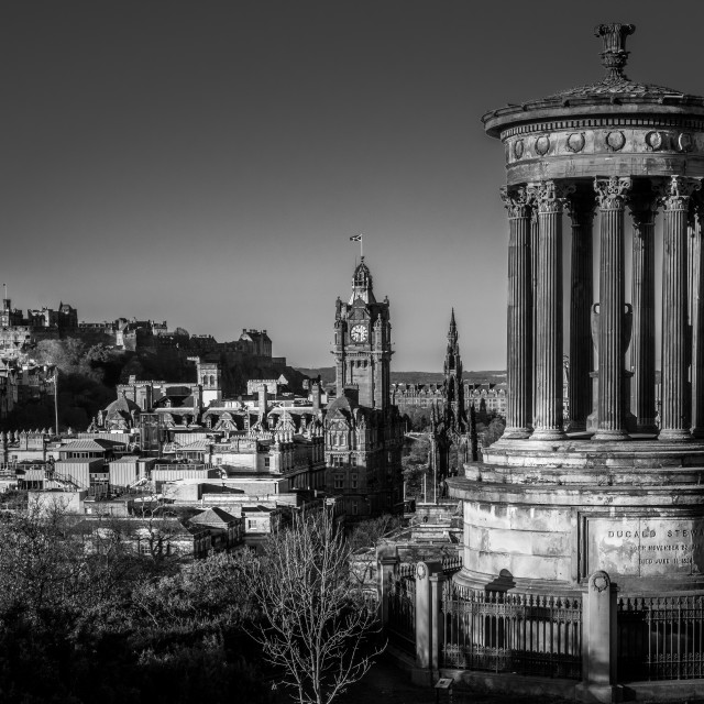 """Calton Hill view"" stock image"