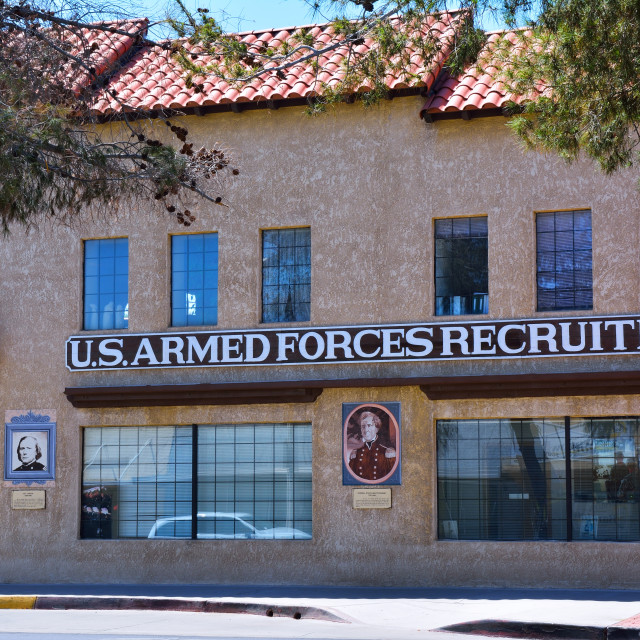 """""""US armed forces recruiting station."""" stock image"""