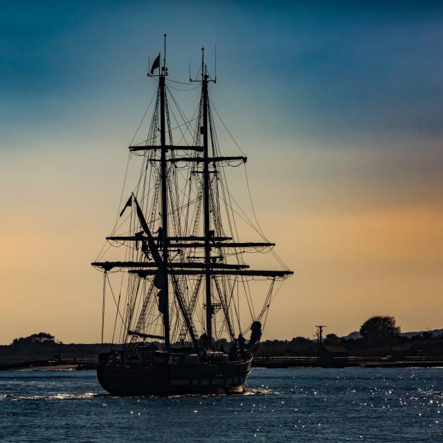 """""""Ship Ahoy"""" stock image"""