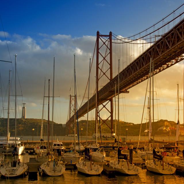 """Lisbon bridge"" stock image"