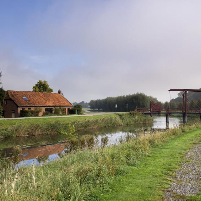 """Drawbridge across a moat"" stock image"