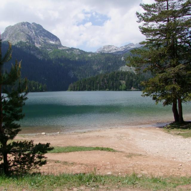 """Durmitor Mountain & Black Lake"" stock image"