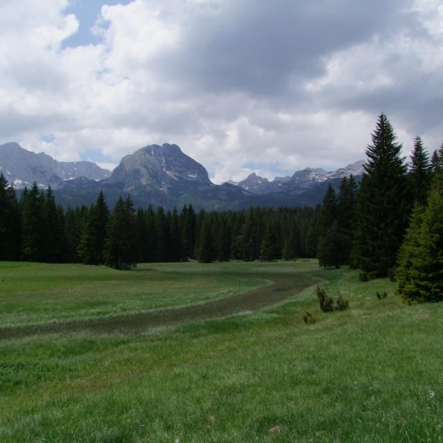 """""""Durmitor & Mountain Range, Black Lake"""" stock image"""