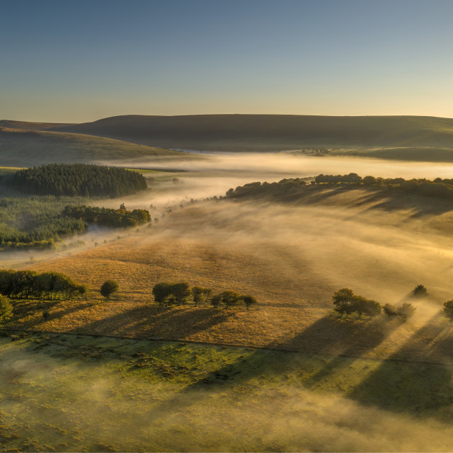 """Mist over the moors"" stock image"