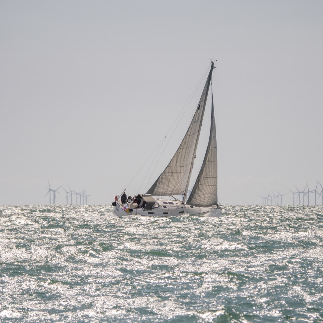 """Sailing past the Rampion"" stock image"