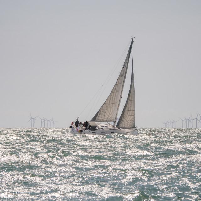 """Sailing past the Rampion"" stock image"