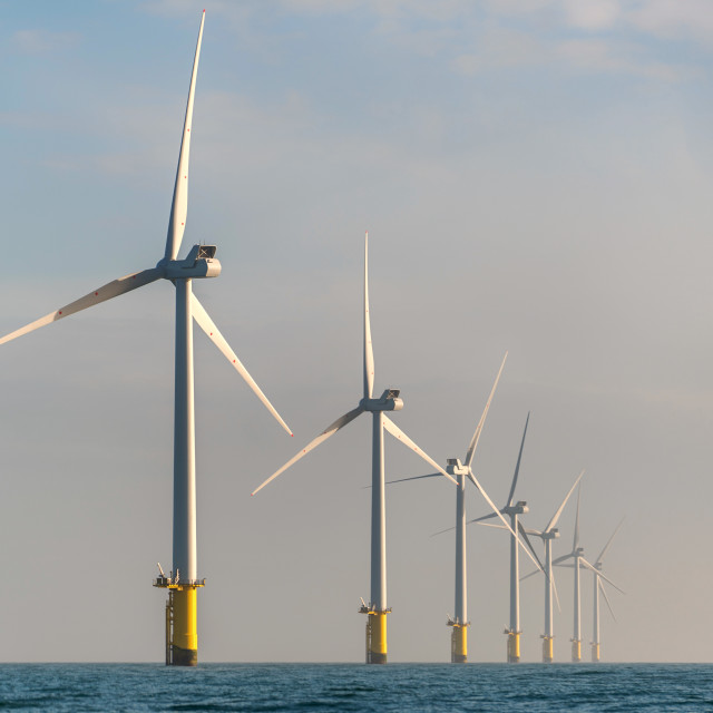 """The Rampion Windfarm"" stock image"
