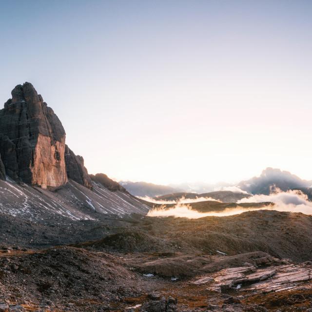 """Tre Cime di Lavaredo, Dolomites Italy"" stock image"