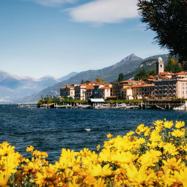 """""""Cityscape of Bellagio, Como Lake, Italy"""" stock image"""