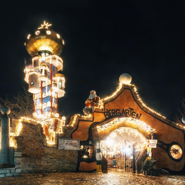 """Christmas illuminations in Abensberg"" stock image"